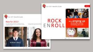 Interactive benefits site