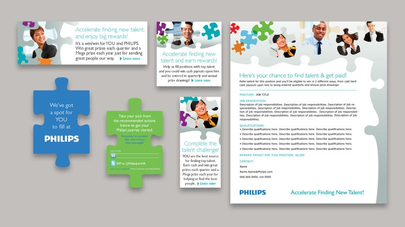 Recruitment card, email, web banners